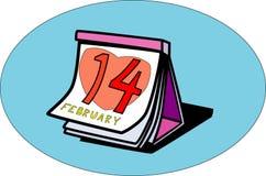 Día de tarjeta del día de San Valentín del calendario stock de ilustración