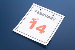 Día de tarjeta del día de San Valentín del calendario Imagen de archivo