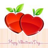 Día de tarjeta del día de San Valentín del corazón Fotos de archivo