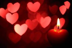 Día de tarjeta del día de San Valentín del corazón foto de archivo libre de regalías