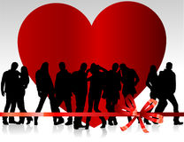 Día de tarjeta del día de San Valentín del fondo Fotos de archivo libres de regalías