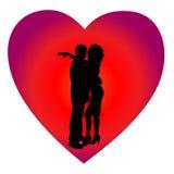 Día de tarjeta del día de San Valentín del fondo Fotografía de archivo