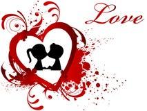Día de tarjeta del día de San Valentín del fondo Foto de archivo