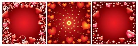 Día de tarjeta del día de San Valentín del fondo Imagenes de archivo