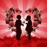 Día de tarjeta del día de San Valentín del fondo stock de ilustración