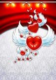 Día de tarjeta del día de San Valentín del fondo libre illustration