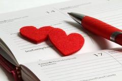 Día de tarjeta del día de San Valentín del St Fotografía de archivo