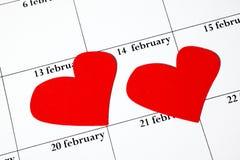 Día de tarjeta del día de San Valentín el 14 de febrero Fotos de archivo