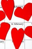 Día de tarjeta del día de San Valentín el 14 de febrero Fotografía de archivo
