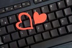 Día de tarjeta del día de San Valentín en la oficina Imagenes de archivo