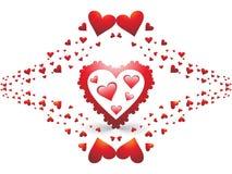 Día de tarjeta del día de San Valentín fantástico Imagen de archivo libre de regalías