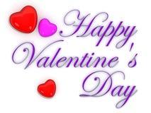 Día de tarjeta del día de San Valentín feliz Fotos de archivo