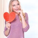 Día de tarjeta del día de San Valentín feliz Fotos de archivo libres de regalías
