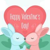 Día de tarjeta del día de San Valentín feliz libre illustration