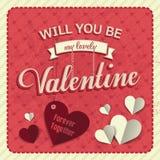 Día de tarjeta del día de San Valentín feliz Foto de archivo libre de regalías