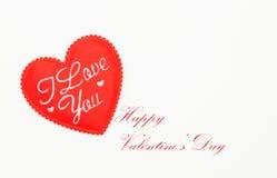Día de tarjeta del día de San Valentín feliz Fotografía de archivo