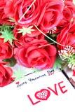 Día de tarjeta del día de San Valentín feliz Imagen de archivo libre de regalías