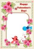 Día de tarjeta del día de San Valentín feliz Fotografía de archivo libre de regalías