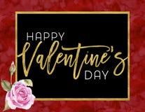 Día de tarjeta del día de San Valentín feliz imágenes de archivo libres de regalías