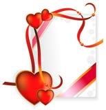 Día de tarjeta del día de San Valentín feliz. Tarjeta de felicitación. Fotografía de archivo
