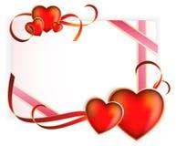 Día de tarjeta del día de San Valentín feliz. Tarjeta de felicitación. Fotografía de archivo libre de regalías