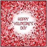Día de tarjeta del día de San Valentín Fondo del vector Imagen de archivo libre de regalías