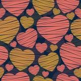 Día de tarjeta del día de San Valentín Modelo inconsútil del corazón Foto de archivo