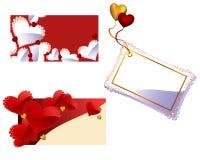 Día de tarjeta del día de San Valentín o tarjetas de felicitación de la boda Imagen de archivo