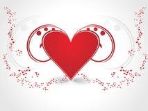 día de tarjeta del día de San Valentín romántico de los corazones Imagen de archivo
