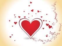 día de tarjeta del día de San Valentín romántico de los corazones Imágenes de archivo libres de regalías