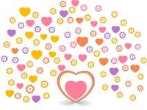día de tarjeta del día de San Valentín romántico de los corazones Fotografía de archivo libre de regalías
