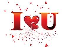día de tarjeta del día de San Valentín romántico de los corazones Imagen de archivo libre de regalías