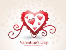 día de tarjeta del día de San Valentín romántico de los corazones Fotos de archivo