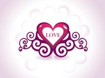 día de tarjeta del día de San Valentín romántico de los corazones Imagenes de archivo