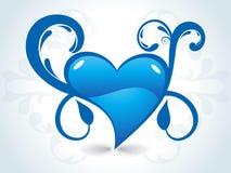 día de tarjeta del día de San Valentín romántico de los corazones Fotografía de archivo
