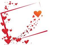día de tarjeta del día de San Valentín romántico de los corazones Foto de archivo libre de regalías