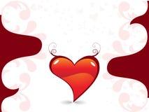 día de tarjeta del día de San Valentín romántico de los corazones floral Imagenes de archivo