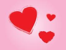Día de tarjetas del día de San Valentín Fotos de archivo