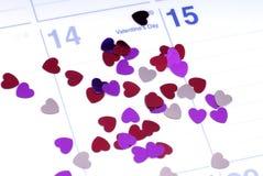 Día de tarjetas del día de San Valentín Imágenes de archivo libres de regalías