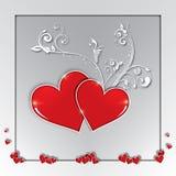 Día de tarjetas del día de San Valentín, amor, tarjeta de felicitaciones, composición Fotografía de archivo libre de regalías