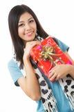 Día de tarjetas del día de San Valentín asiático de la mujer Imagen de archivo