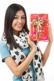 Día de tarjetas del día de San Valentín asiático de la mujer Fotografía de archivo libre de regalías