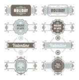 Día de tarjetas del día de San Valentín caligráfico de los elementos del diseño Imagen de archivo libre de regalías