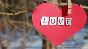 Día de tarjetas del día de San Valentín, día del ` s de la tarjeta del día de San Valentín, amor almacen de metraje de vídeo