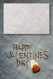 Día de tarjetas del día de San Valentín de la ha Tarjeta de felicitación con el fondo natural Imagen de archivo