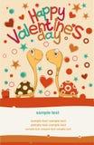 Día de tarjetas del día de San Valentín de la postal Fotografía de archivo libre de regalías