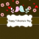 Día de tarjetas del día de San Valentín de la tarjeta Foto de archivo