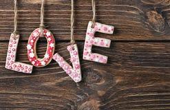 Día de tarjetas del día de San Valentín de las galletas Imagenes de archivo