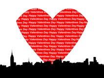 Día de tarjetas del día de San Valentín de Manhattan Foto de archivo libre de regalías