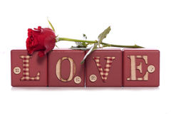 Día de tarjetas del día de San Valentín del amor Imagen de archivo